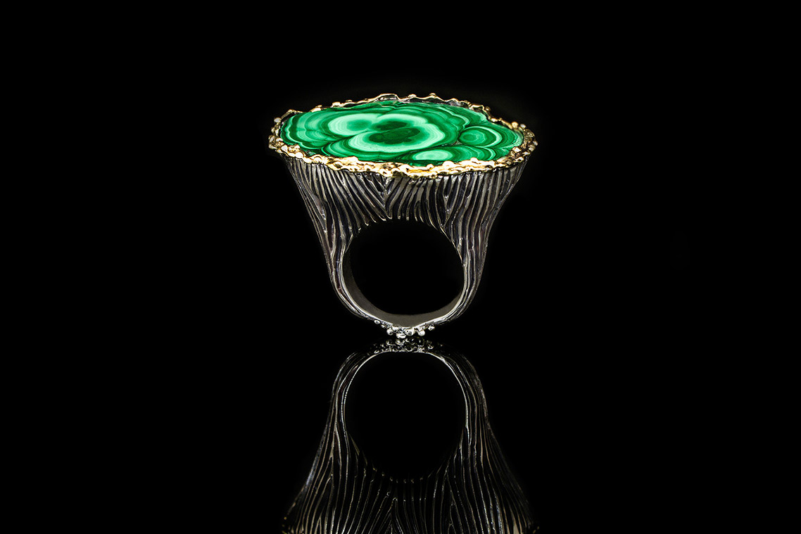 Omalgami Ring malachite