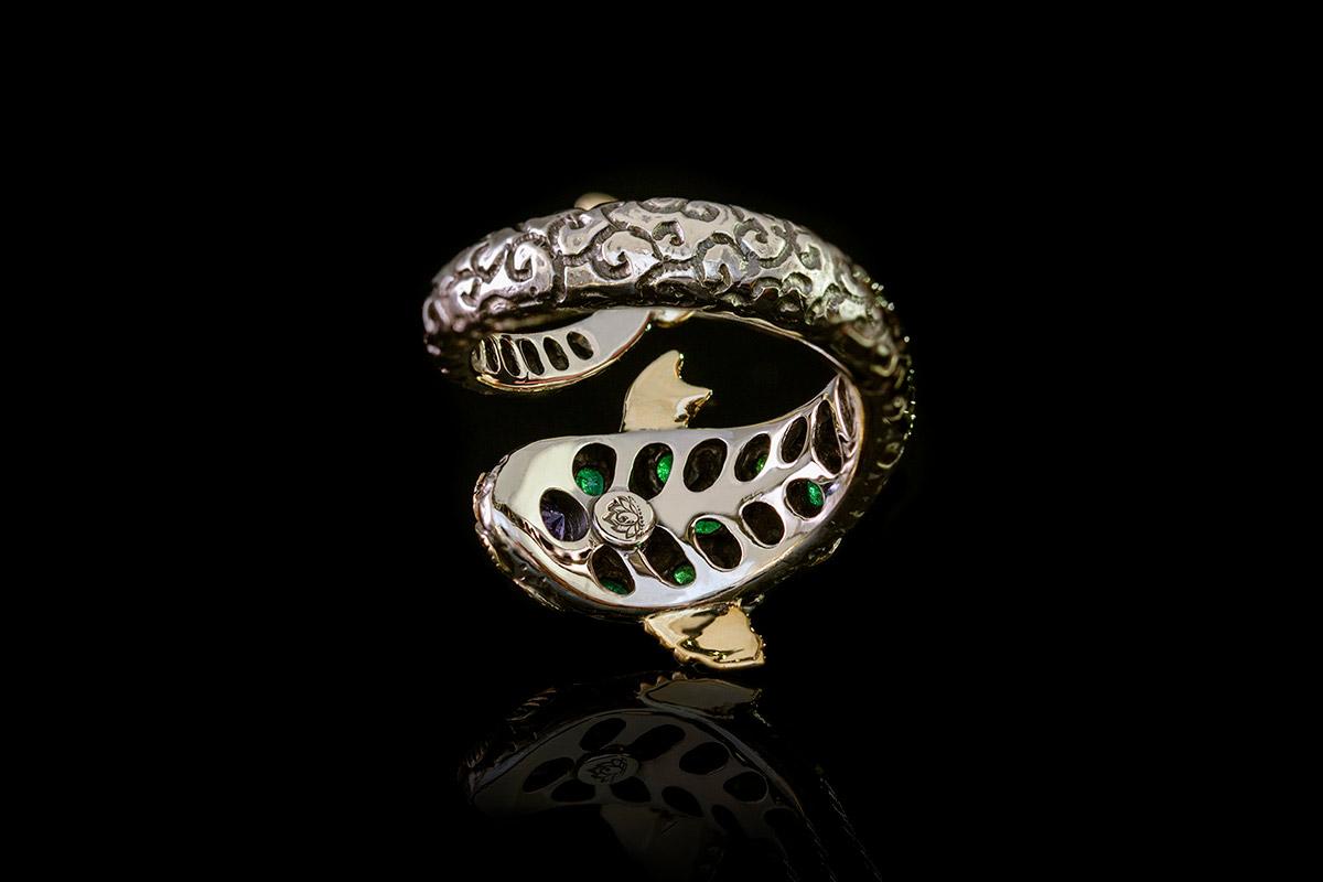 Omalgami ring green fish
